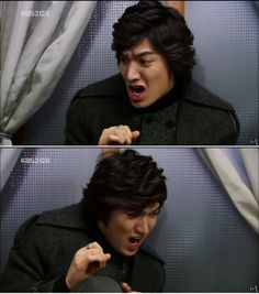 Lee Min Ho as Gu Jun Pyo  Boys Over Flowers <3  He's the guy who isn't scared of anything in the world, but bugs scare the crap out of him. <3