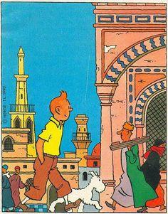 Tintin and Captain Haddock in the animation cartoon film  I