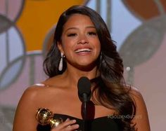 Gina Rodriguez Made History And Gave A Powerful Speech About Latino Culture