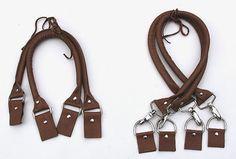 DIY Taschengriff mit Seil + Leder machwerk: Taschenhenkel aus Leder- selbstgenäht!