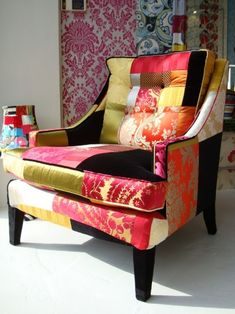 Fabric patchwork chair