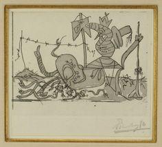 Pablo Picasso etching, Sueno y Mentira de Franco