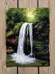 Felted Artwork-Original felted landscapes by Tracey McCracken Palmer. Wet felting and needle felting techniques are used to create beautiful works of art. Weaving Wall Hanging, Weaving Art, Tapestry Weaving, Wet Felting, Needle Felting, Hessian Crafts, Landscape Art Quilts, Moss Art, Felt Pictures