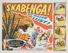 Gran colección de carteles originales de películas clásicas años 40-70, de descarga totalmente gratuita (alta resolución). Savage, Lust, Africa, Comic Books, Comics, Film, Old Movie Posters, Vintage Movies, Vintage Posters
