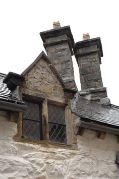 Window and chimney details.
