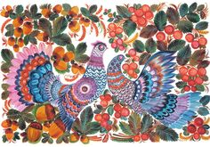 Ukrainian Petrkivka art, петриківський розпис автор В. Тезик**