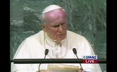 The different speeches given by Saint Pope John Paul II and Pope Francis.