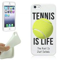 Tennis iPhone 5S Case By NickyPrints(TM) - Tennis Is Life Quote Girls Teens UNIQUE Designer Gloss Candy TPU Flexible Slim Case for iPhone 5 5S #tennisgift