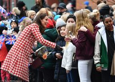 After speaking to Kate and William,Malte Bregqvist, 15, a ninth grade pupil, said: 'I shook both their hands. It was weird, I never really met a royal before. I asked them how they were and they said the same thing to everyone, they were nice, they were doing fine. It's generous of them to take time and shake everybody's hands'