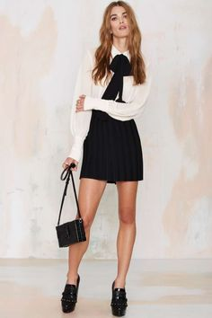 nasty gal. mademoiselle pussy bow blouse. #fashion