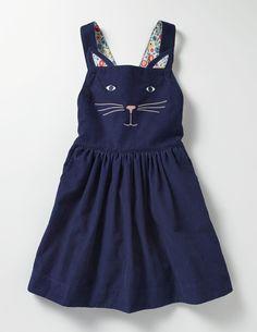 Animal Overall Dress (School Navy Cat)