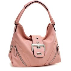This front zippered fashion hobo is a great way to add some flair to your everyday style. The front flap is adorned with silvertone buckle accent that gives it feminine touch. Plenty of space inside makes this bag a great accessory for everyday use.