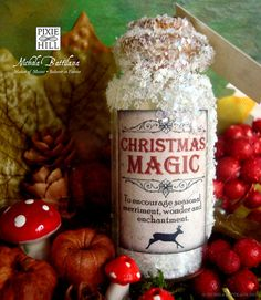 One Small Bottle of Christmas Magic by PixieHillStudio on Etsy, $8.00