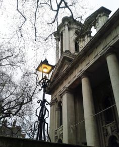 The old Lanterns outside John Smith House, SW1