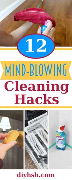 12 Mind-Blowing House Cleaning Hacks Deep clean your home the easy way with these home deep cleaning hacks. - home-dekor Household Cleaning Tips, Deep Cleaning Tips, Toilet Cleaning, House Cleaning Tips, Diy Cleaning Products, Cleaning Solutions, Spring Cleaning, Oven Cleaning Hacks, Cleaning Crew