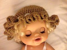 Soft Crochet Hat - Chocolate - 12 months
