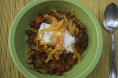 Hearty Red Pepper and Corn Vegetarian Chili made with Homemade Chili Powder - Copywriters' Kitchen