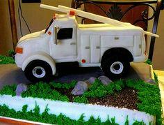 Lineman truck by Karen's kakes, via Flickr