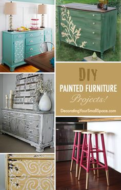 DIY Painted Furniture Projects with Ideas & Tutorials! Refurbished Furniture, Paint Furniture, Repurposed Furniture, Furniture Projects, Furniture Making, Furniture Makeover, Home Projects, Home Crafts, Diy Home Decor