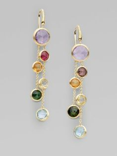 Marco Bicego - Semi-Precious Multi-Stone Multi-Strand 18K Yellow Gold Earrings - Saks.com