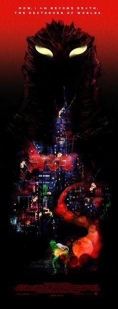 Alternative Godzilla Poster by Kasey Gifford