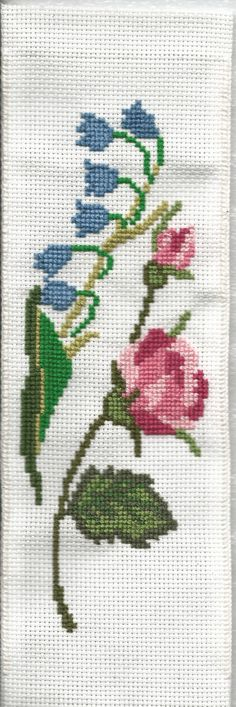 Carnation cross-stitchC bookmark lily cross-stitch by MySmallHands