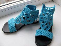 Sandalias Ibicencas, Sandalias Ganchillo, Crochet Zapatillas, Crochet Calzado, Accesorios De Ganchillo, Accesorios Tejidos, Calzados Ganchillo,