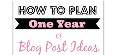 In the blogging world, a new year is more than just a new date. It's a time to re-organize and think about what's been working and what hasn't been working. If you want to make 2014 your year of blogging success, then it's time to sit down and start mapping out a blogging plan. A …