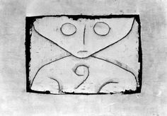 Carta Ghost de Paul Klee (1879-1940, Switzerland)