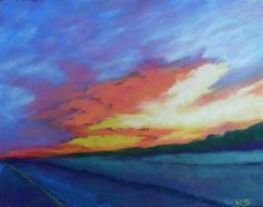 """Sunset for Larry"" - Original Fine Art for Sale - © Regina Calton Burchett"