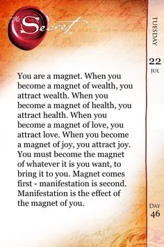 You are a magnet. #TheSecret #LawofAttraction #RhondaByrne #FeelGood #Joy2Billions #LOA pic.twitter.com/3xgwd4sZSW
