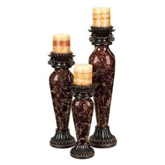 UMA Enterprises 39310 Candle Holder - Set of 3 - 39310
