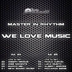 TONIGHT ON AIR !  Master in Rhythm Radio Show on Radio Energy
