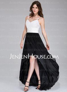 Prom Dresses - $126.99 - A-Line/Princess Sweetheart Asymmetrical Chiffon Prom Dress With Ruffle (020037393) http://jenjenhouse.com/A-Line-Princess-Sweetheart-Asymmetrical-Chiffon-Prom-Dress-With-Ruffle-020037393-g37393
