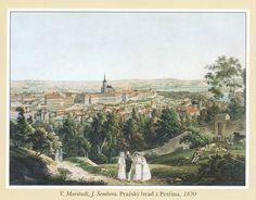 V. Morstadt | Prague Castle from Petřín, 1830