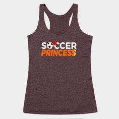 a7c658e41481 Shop Soccer Princess soccer women tank tops designed by LisaLiza as well as  other soccer women merchandise at TeePublic.