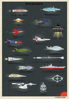 MAGMA (for) space series - federico babina - Spaceships