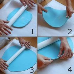 Fondant.  To bad i didn't read these instruction before my 1st attempt on making a fondant cake.