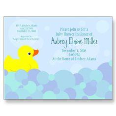 rubber ducky invitation