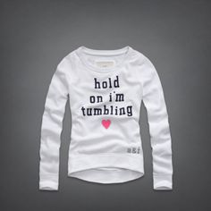 """Hold on I'm Tumbling""  sweatshirt by Abercrombie Kids"