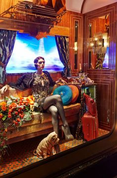 """The Harrods Express"" Christmas Window Display 2013 | Best Window Displays"