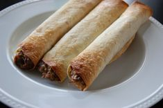 Beef Taquitos from left over beef roast