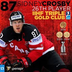 Team Canada defeats Team Russia in the World Championship, 6-1. Goals for both of our guys and an incredible accomplishment for Captain Crosby.