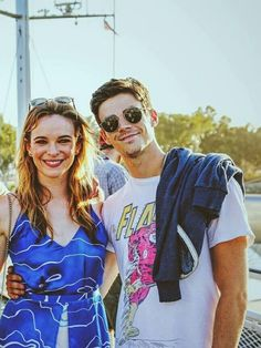 Grant Gustin and Danielle Panabaker #SDCC2016