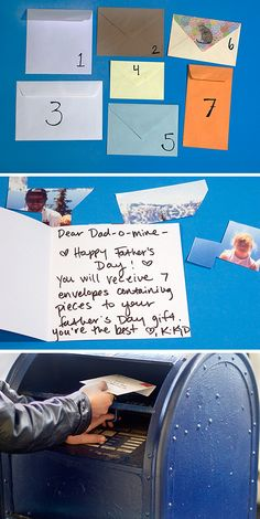 Father's Day is coming up! Check out our DIY, a photo puzzle shipped to Dad, piece by loving piece.