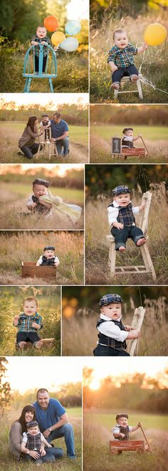 Swade Studios Photography » Specializing in custom newborn and baby photography in the Kansas City area Balloons, outdoor, family, baby boy, blue chair