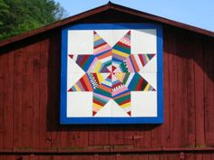 A Beautiful Barn Quilt.  There is a book, but don't know the title, with maps to all the barn quilts.