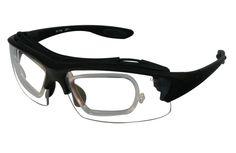 RX-PGI Prescription Safety Glasses, Black Wraparound Frame with Insert,