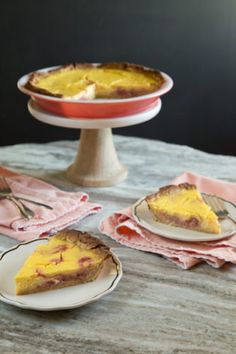 rhubarb lemon pie, v