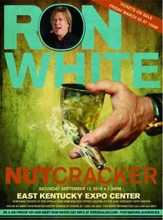 """Comedian Ron """"Tater Salad"""" White, best known as the cigar smoking, scotch drinking funnyman from the """"Blue Collar Comedy"""" phenomenon,  comes to Pikeville with his new stand-up show, NUTCRACKER on September 12th at 7:30pm at the East Kentucky Expo Center. Tickets are $55.00, $45.00 and $35.00 and will be available March 20th the Appalachian Wireless Box Office which is located at the East Kentucky Expo Center or www.iticketmaster.com  FOR MATURE AUDIENCES"""